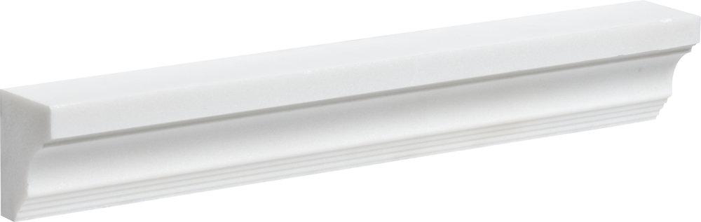 """ML00772 aspen white honed modern cornice molding 2""""x12""""x1 1/2"""""""