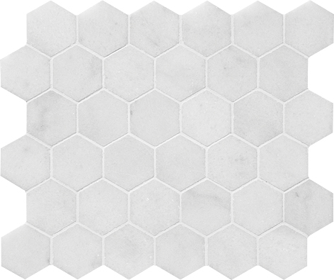 "MS00684 avalon polished hexagon 2"" 10 3/8""x12x3/8"" sheets"