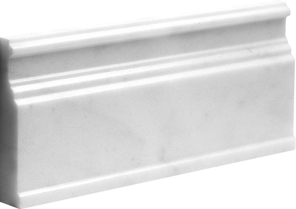"ML00711 avalon polished modern base molding 5 1/16""x12""x15/16"