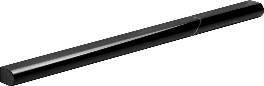"ML00522 black polished pencil liner molding 1/2""x12""x11/16"""