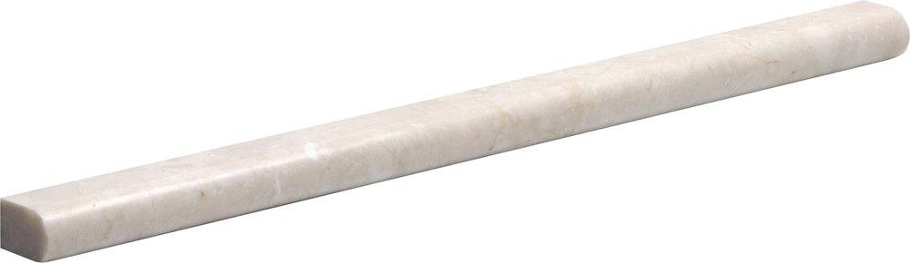 "ML90021 crema marfil polished pencil liner molding 1/2""x12""x11/16"""