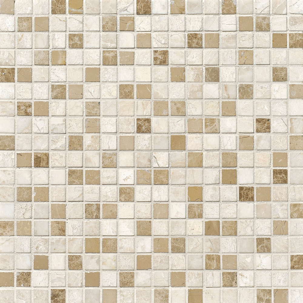 "MS01170 diana royal modern polished staggered mosaic 1 1/4""x6"" 12""x12""x3/8"" sheets"