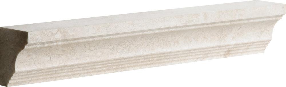 "ML00718 diana royal polished modern cornice molding 2""x12""x1 1/2"""