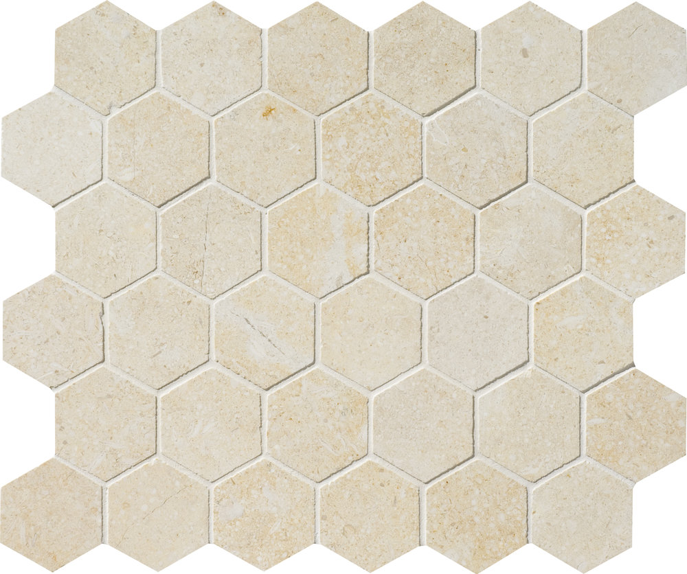 "MS00954 casablanca honed hexagon 2"" 10 3/8""x12""x3/8"" sheets"