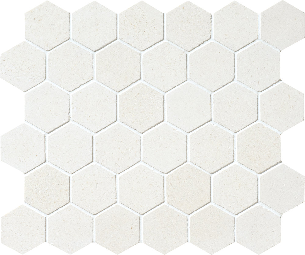 """MS00863 champagne honed hexagon 2"""" 10 3/8""""x12x3/8"""" sheets"""
