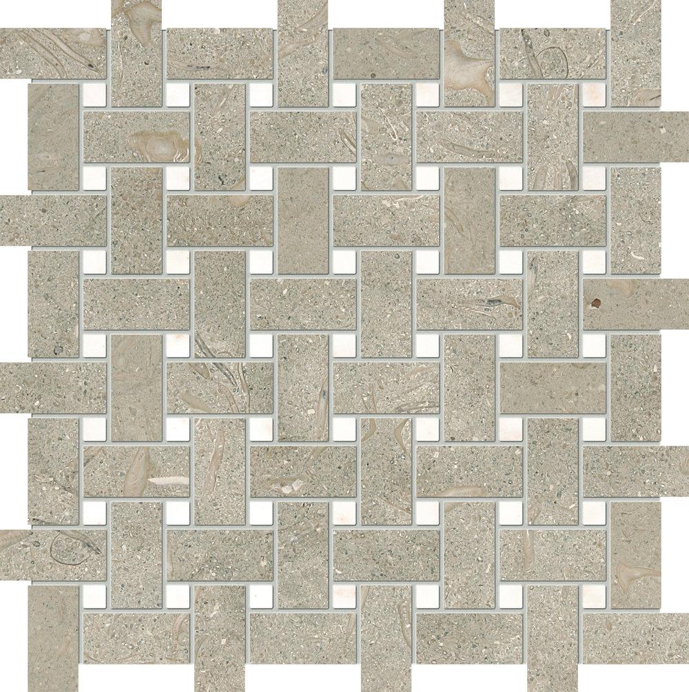 "MS00825 olive green & afyon sugar honed basket weave 1""x2"" 12""x12""x3/8"" sheets"