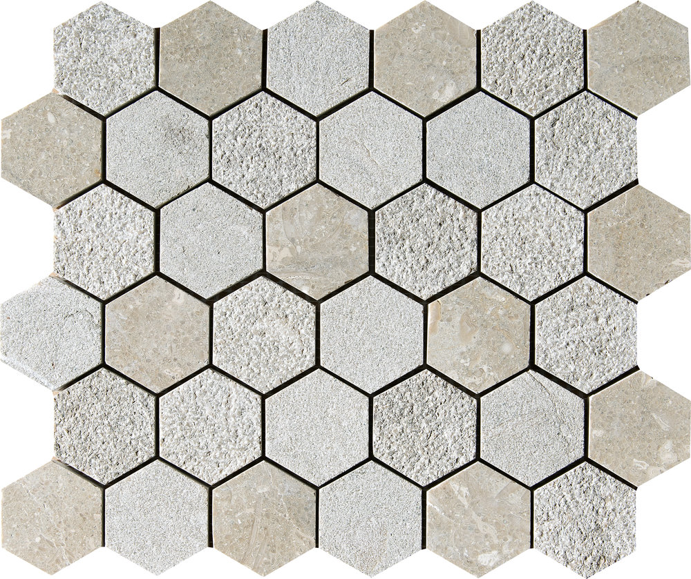 """MS01294 olive green full hexagon textured mosaic 10 3/8""""x12""""x3/8"""" sheets"""
