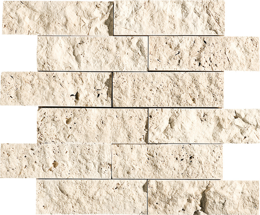 """MS00607 ivory rock face 2""""x6"""" 12""""x14"""" sheets"""