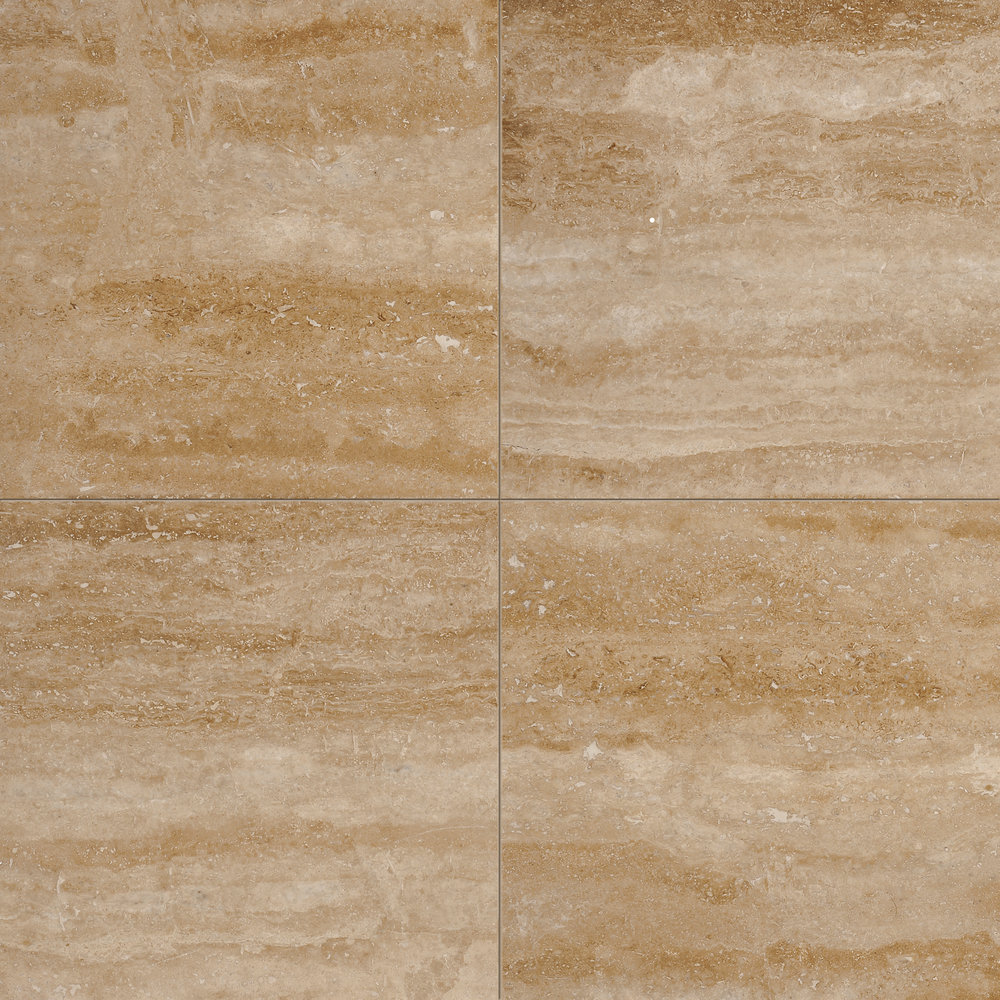 Walnut dark vein cut honed & filled travertine