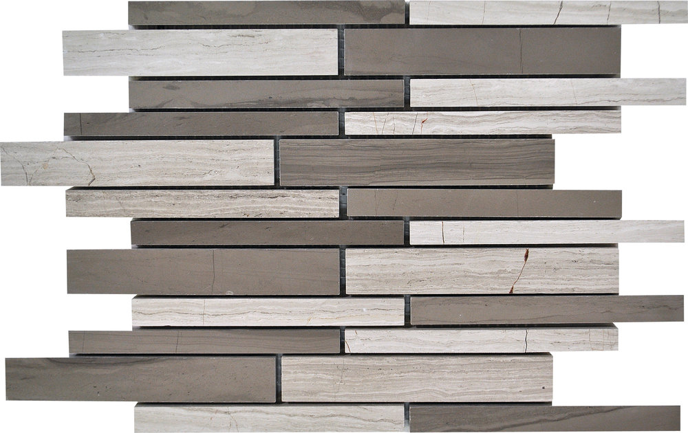 """MS90103 haisa blend honed staggered mosaic 9""""x12""""x3/8"""" sheets"""