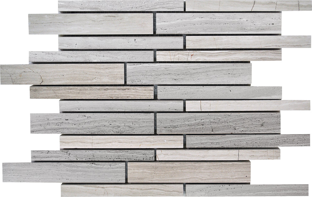 """MS90102 haisa light honed staggered mosaic 9""""x12""""x3/8"""" sheets"""