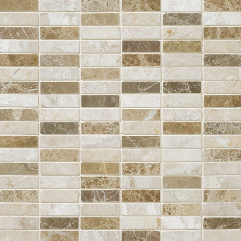"MS00827 milano blend polished 5/8""x2"" 12""x12""x3/8"" sheets"