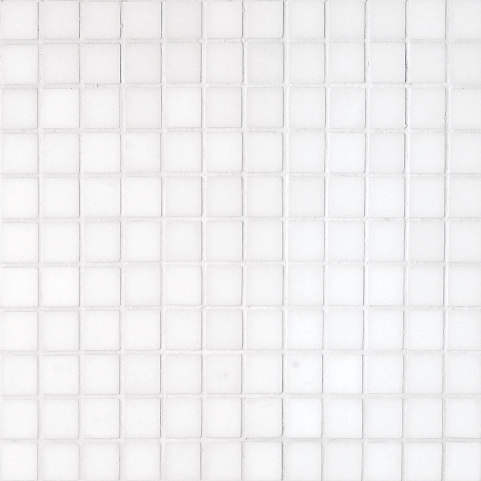 """MS00718 thassos white polished 1""""x1"""" 12""""x12""""x3/8"""" sheets"""