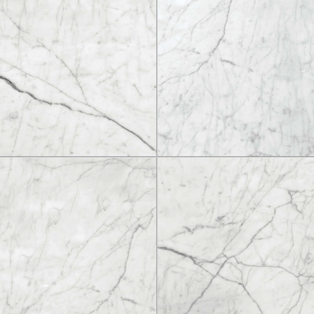 white carrara select polished marble