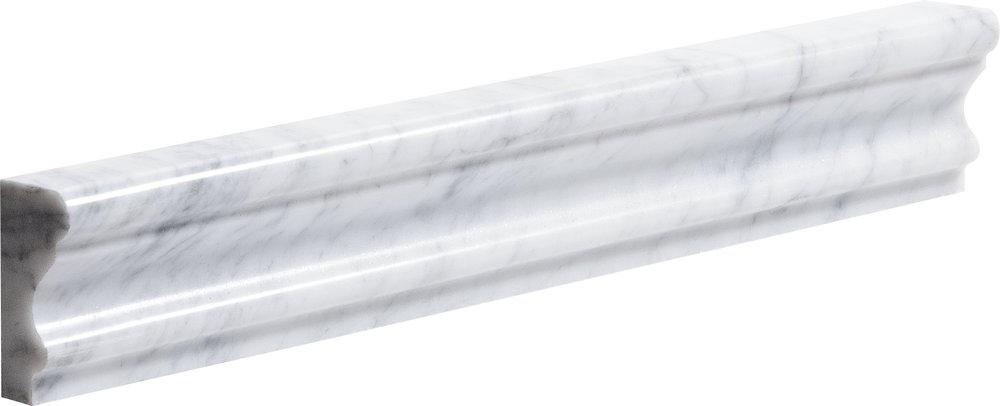 "ML90063 white carrara polished andorra molding 2""x12""x1"""