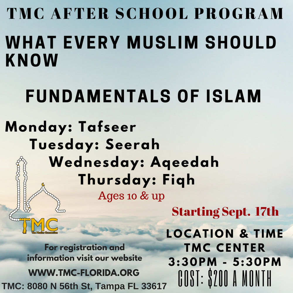 What Every Muslim Should Know - For registration click HERE