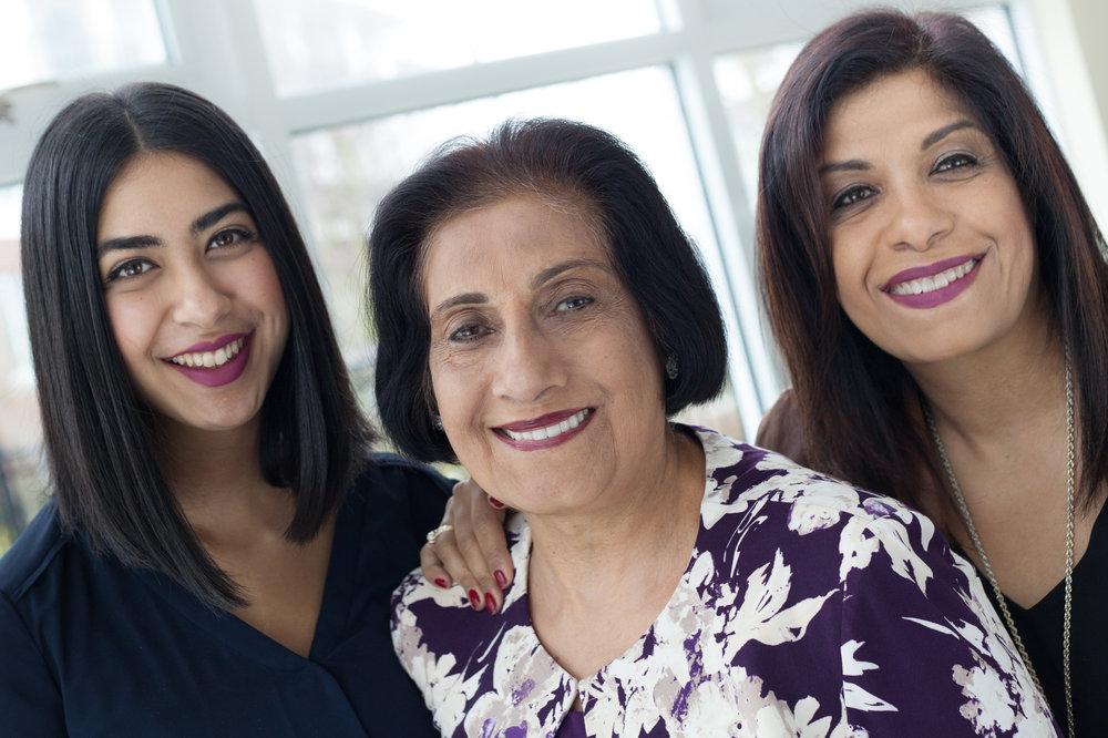 Tasha Kara, Nabat Muljiani and Annie Muljiani
