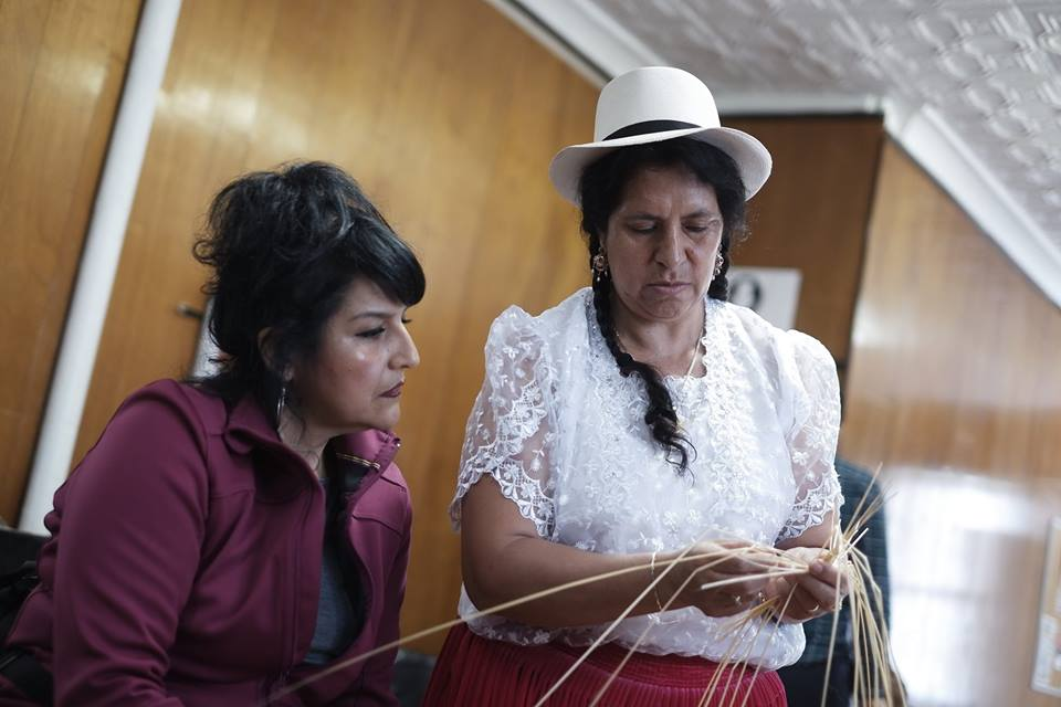Ecuadorian-American Cultural Center  Leading the first toquilla straw weaving workshop in the U.S.A