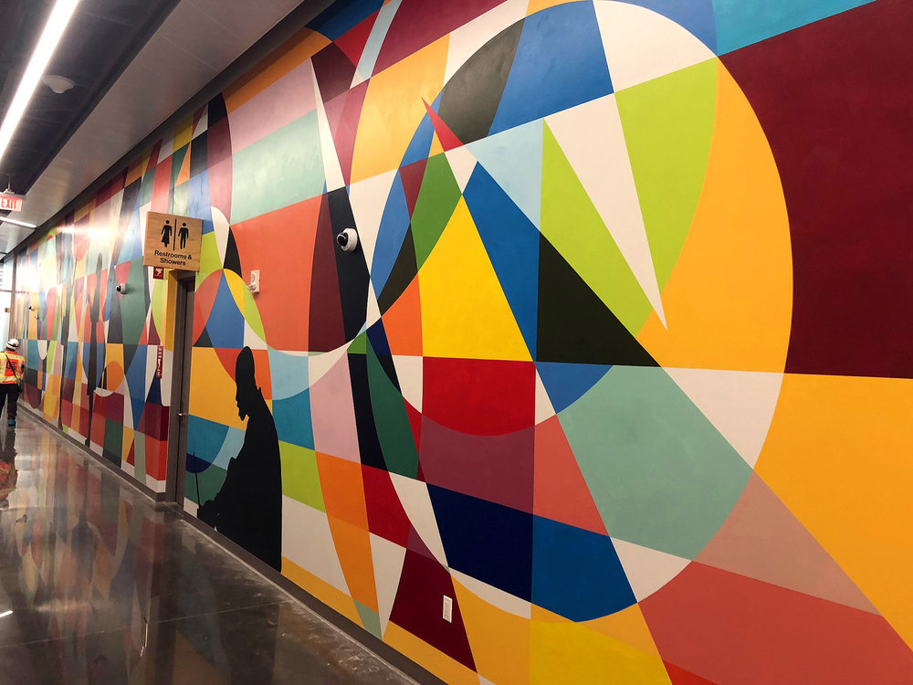 2018 mural commission for Facebook's data center in Altoona, Iowa.