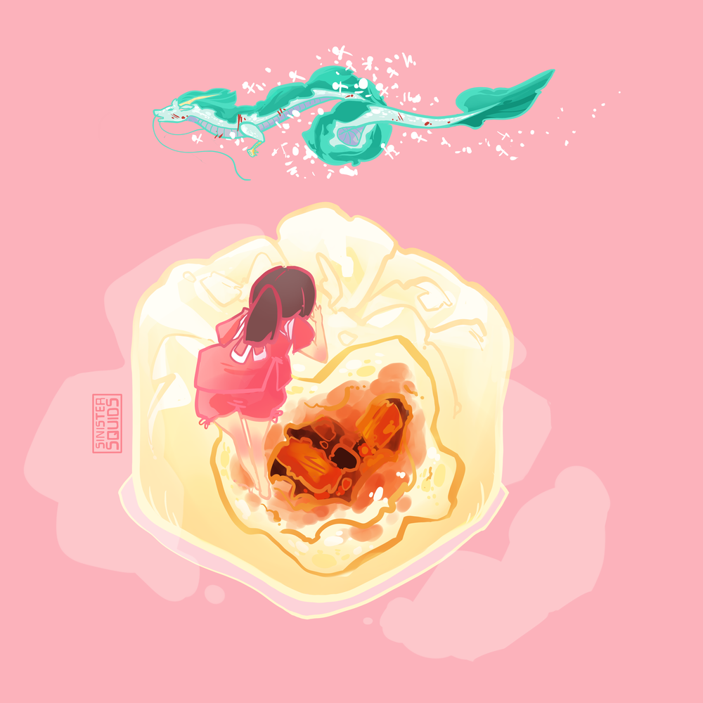 Spirited Away and Pork Bun |  video  | Sticker Form