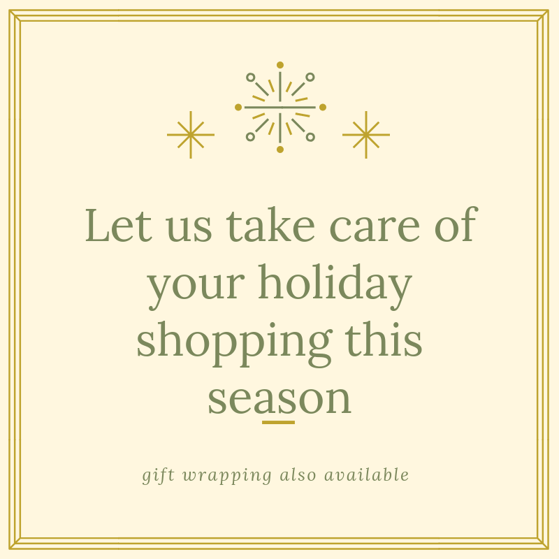 Let Lerner Concierge do your shopping for you. We'll find the best deals, go out in the middle of the night if we have to, and deliver them to you at an inconspicuous time (like when the kiddos are at school).   We'll also gift wrap them for you!