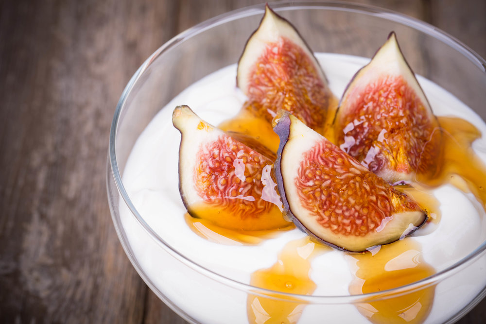 Featured: Fresh figs with honey drizzled on top. Mmmm