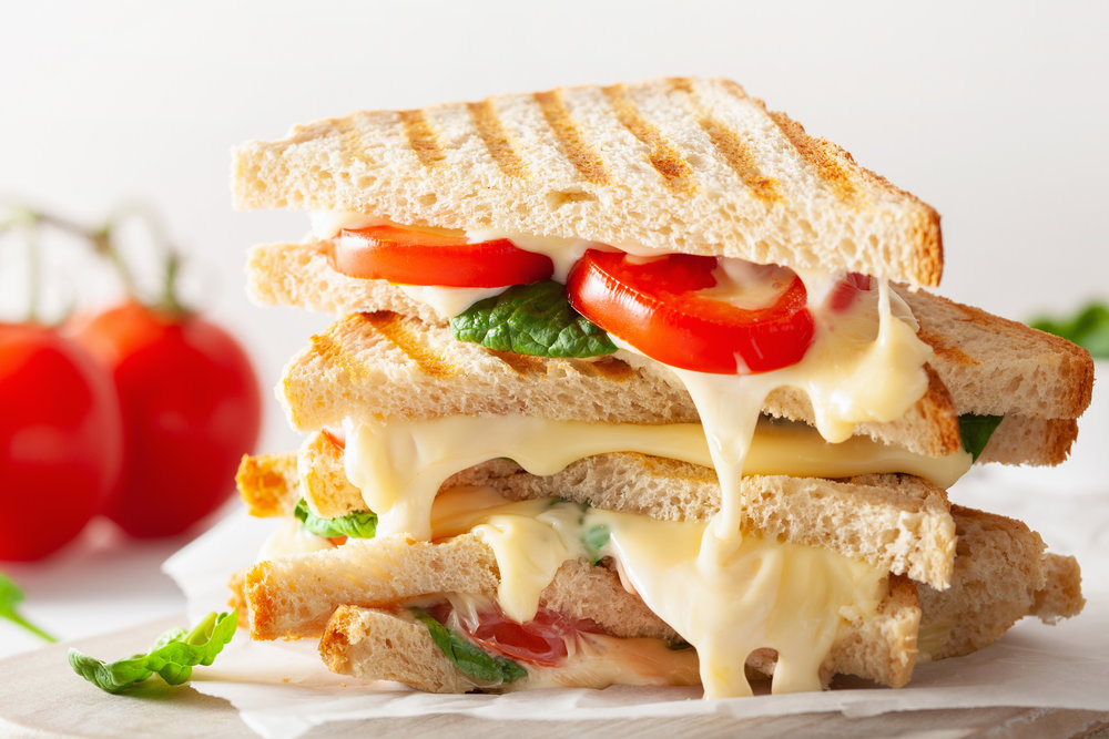 Grilled cheese with TOMATO… mmmm!
