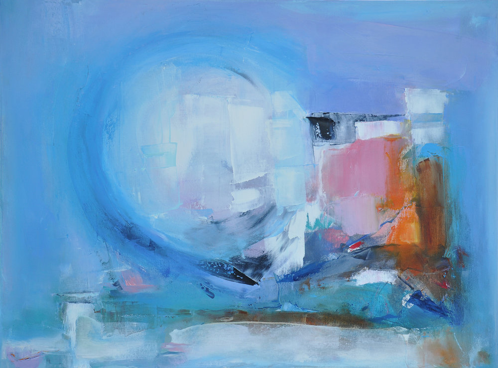 Icy impression - Artiste :Béatrice DaugeDimensions : 30 x 40 in.Médium :Huile sur toile