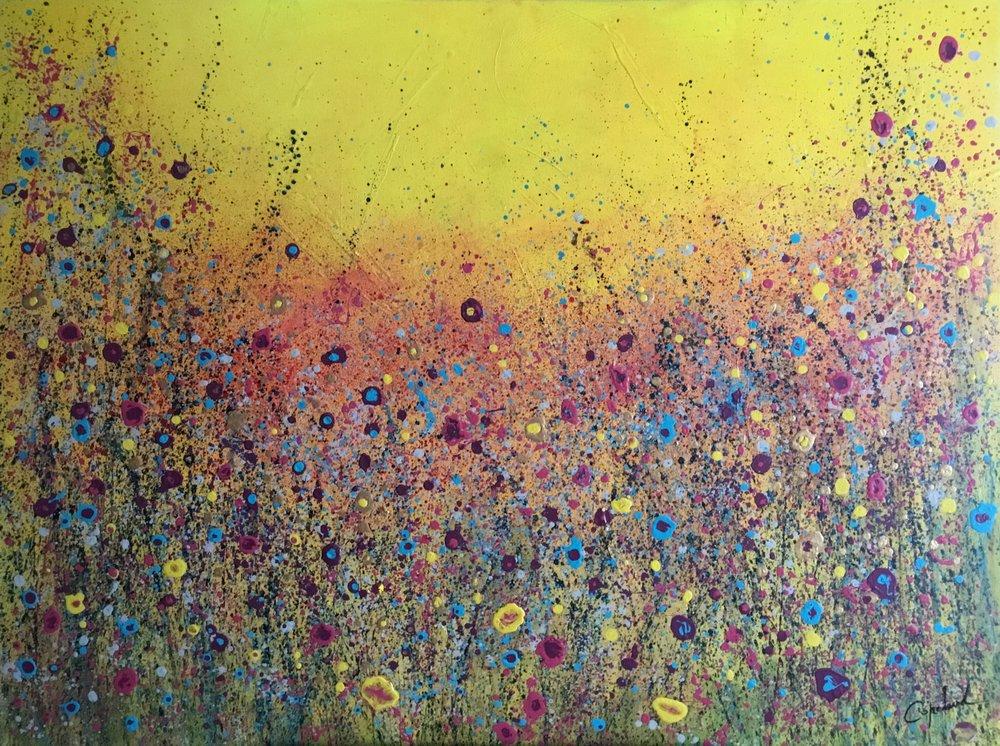 Cet été là - Artiste : Patricia CopelandDimensions : 36 x 48 in.Médium :Acrylique