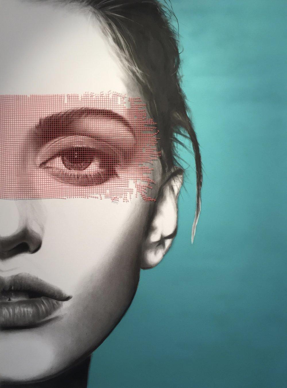 Le filtre - Artiste: Jean MolinariDimensions : 36 x 48 in.Médium :Fusain