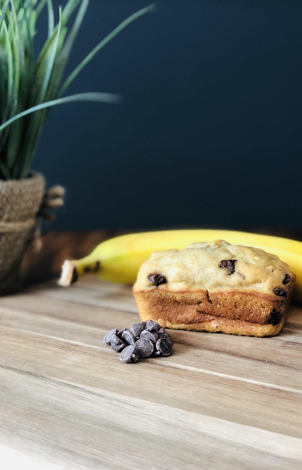 Pain aux Bananes - Bananes bio, chocolat