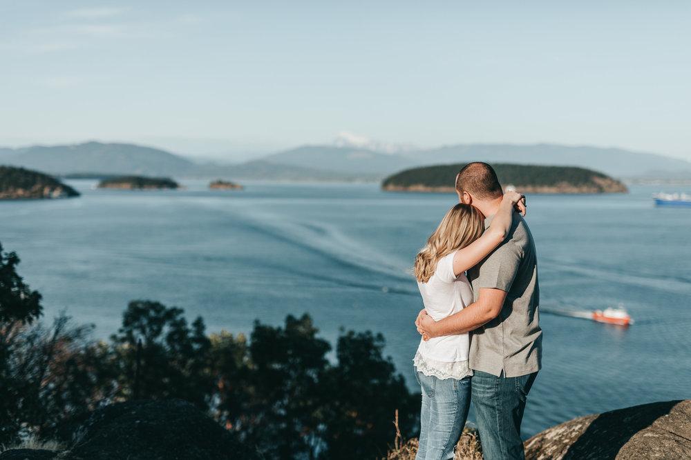 mountain top engagement photos