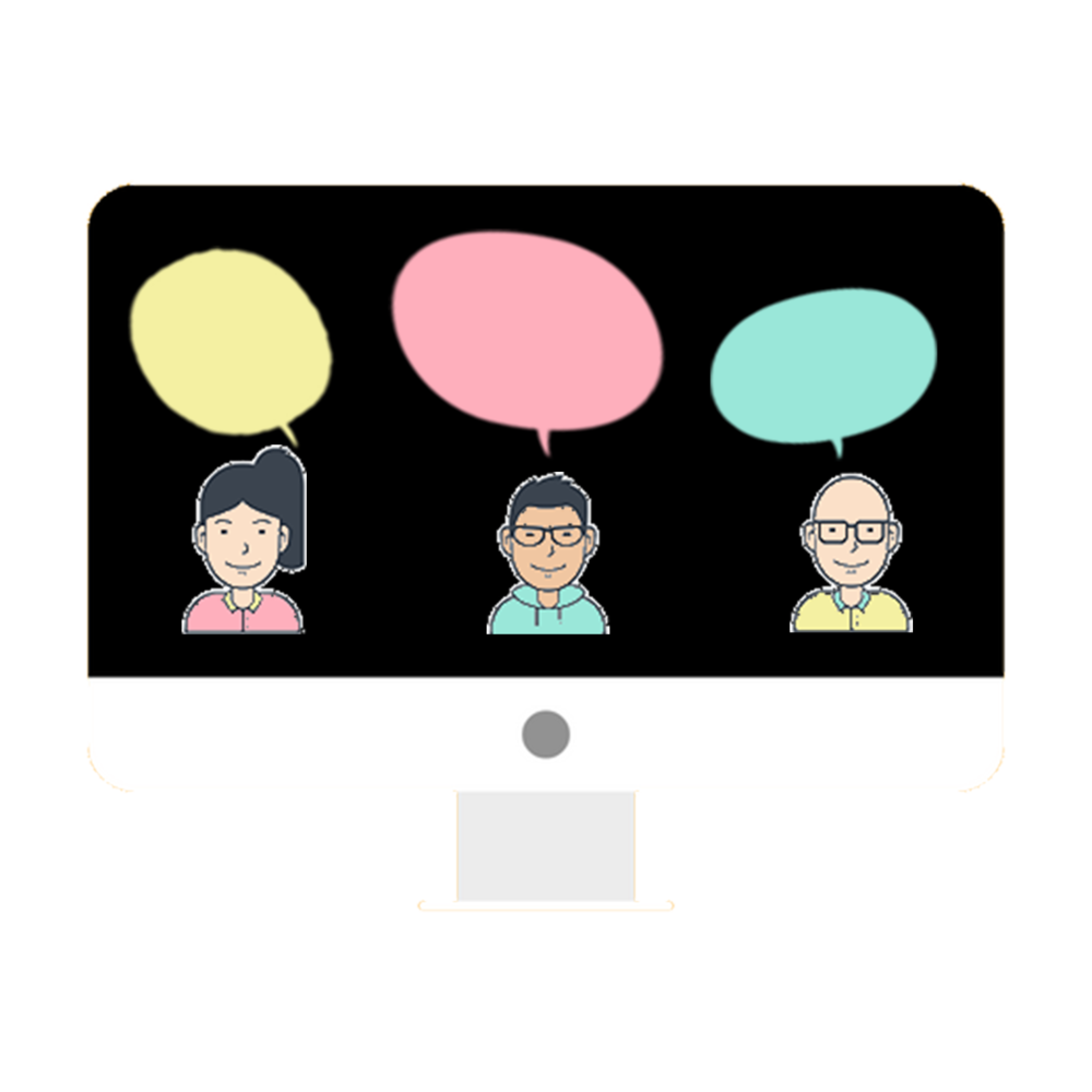 オンライン勉強会 - チャットではできない深い議論ができるよう、オンライン勉強会も実施しています。勉強会を通して知識だけでなく、メンバーとの関係性も深めていきましょう。