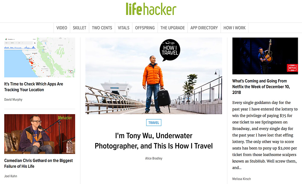 Lifehacker, December 2018
