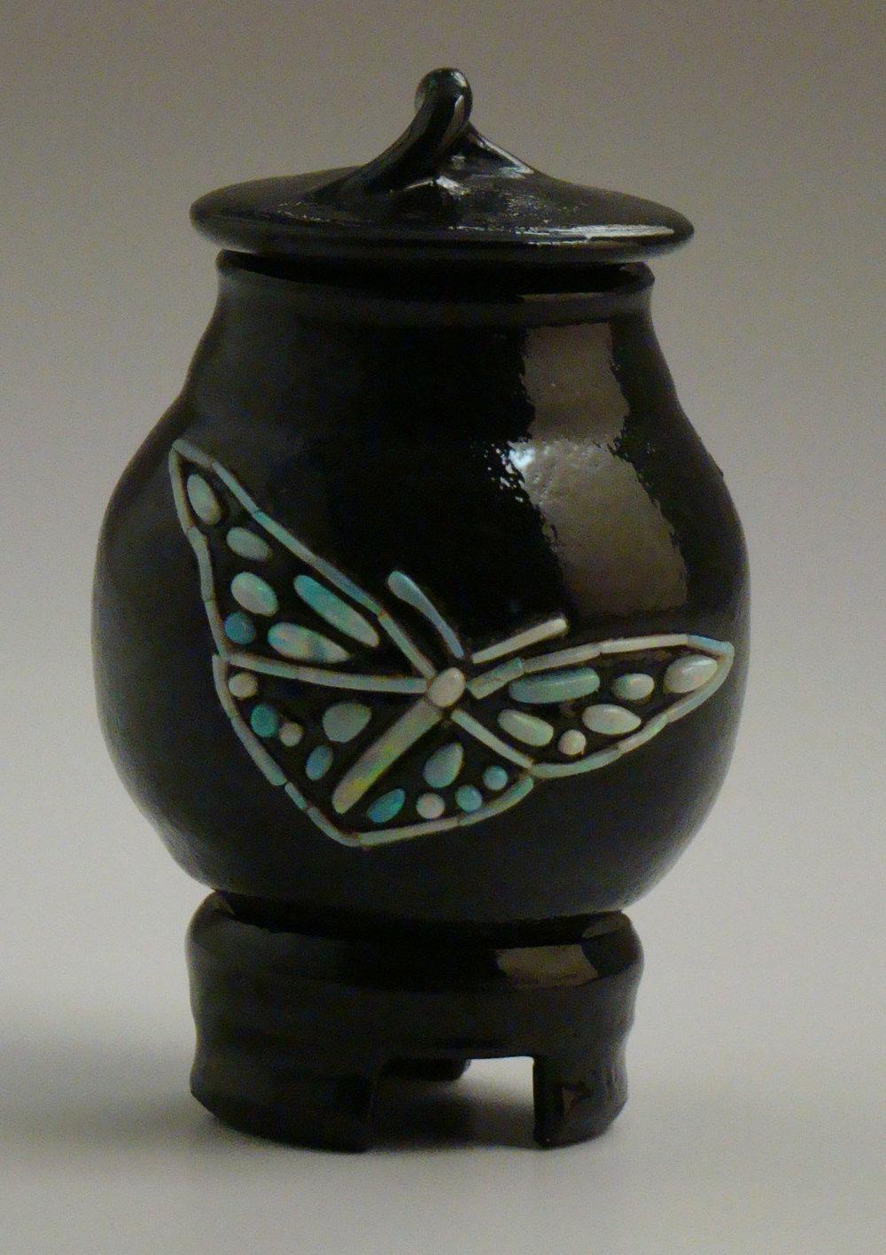Opal Butterfly Vase
