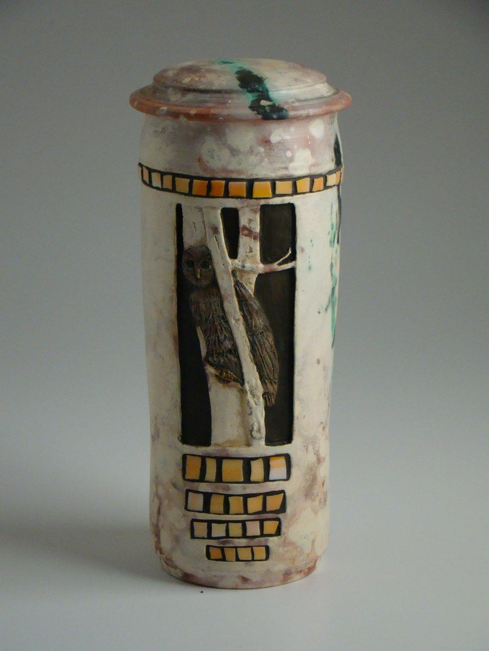 Saggar Owl Mosaic