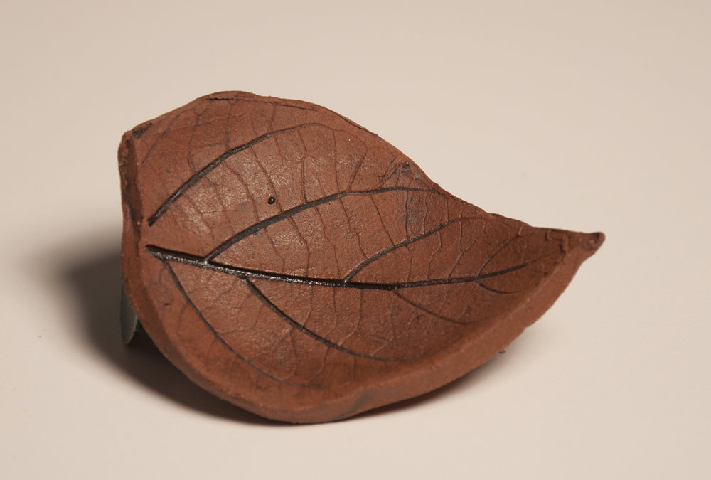 Brown Leaf Ring holder