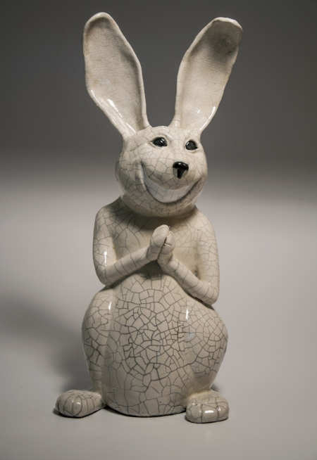Rupart  White crackle Raku