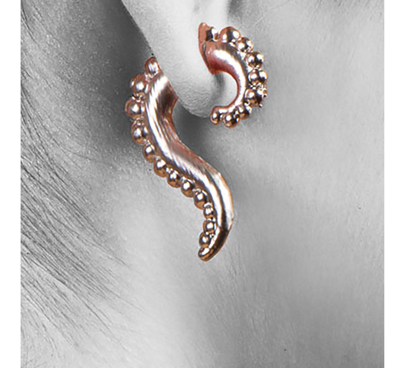 ff6bfaccf724d5 Medium Beaded Swoop Double Sided Earrings Sterling Silver. 2 Beeded Swoosh  tini platinum sq w.jpg