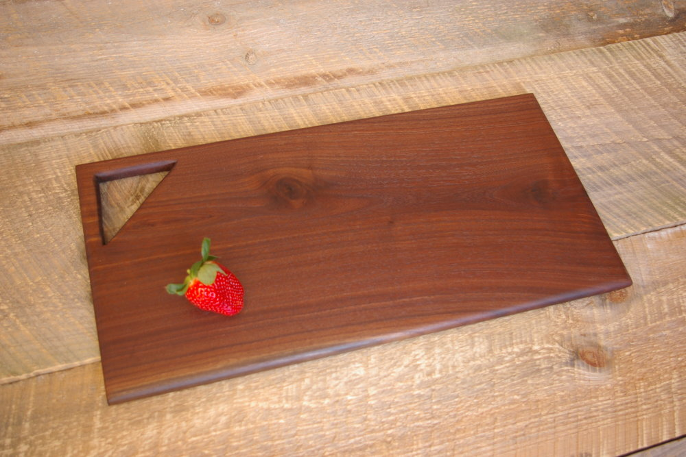 - Black walnut cutting board