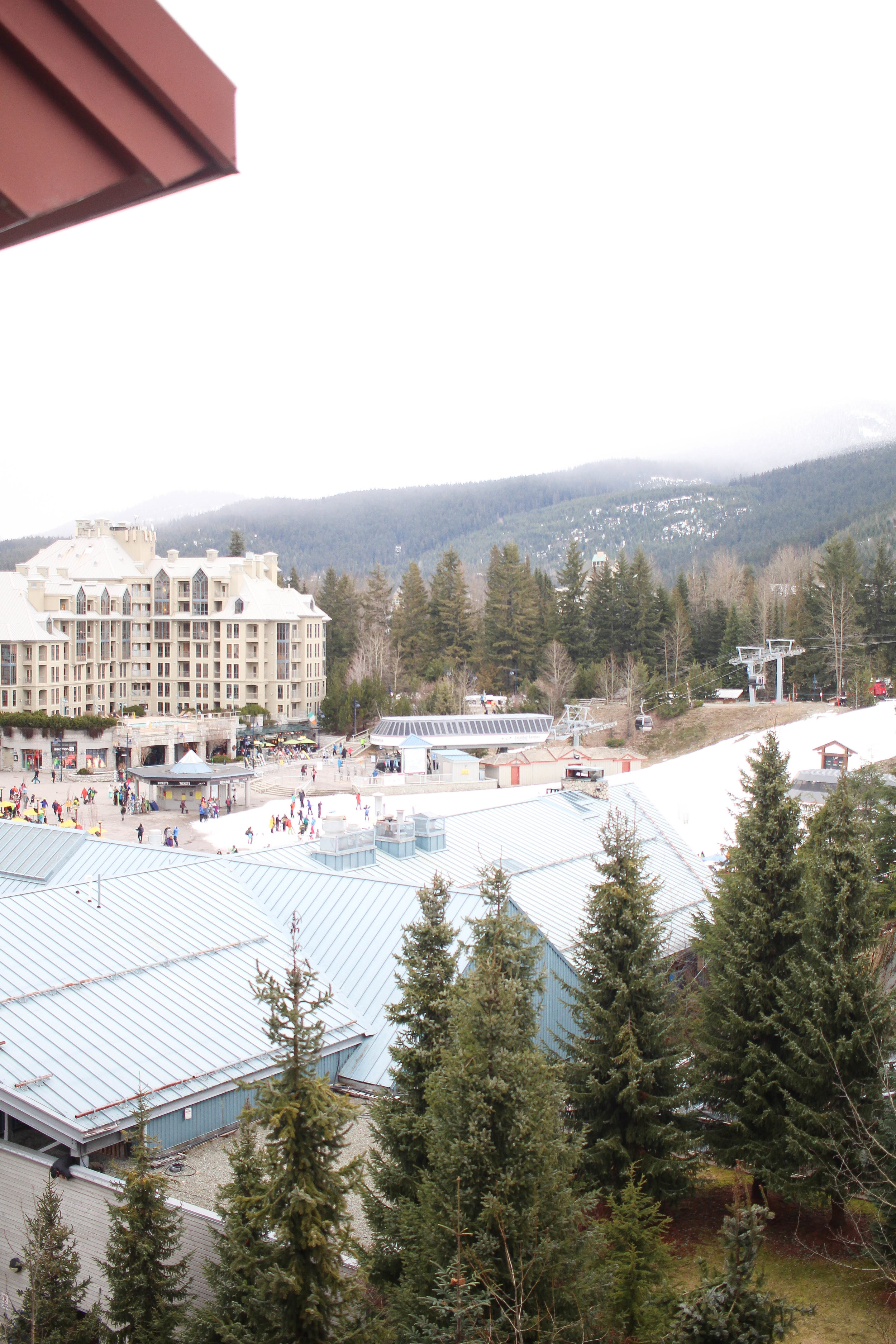 View of Whistler Village from the Westin