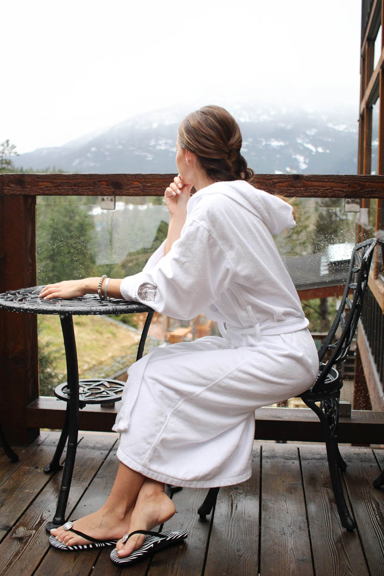 me at the scandinave spa in Whistler
