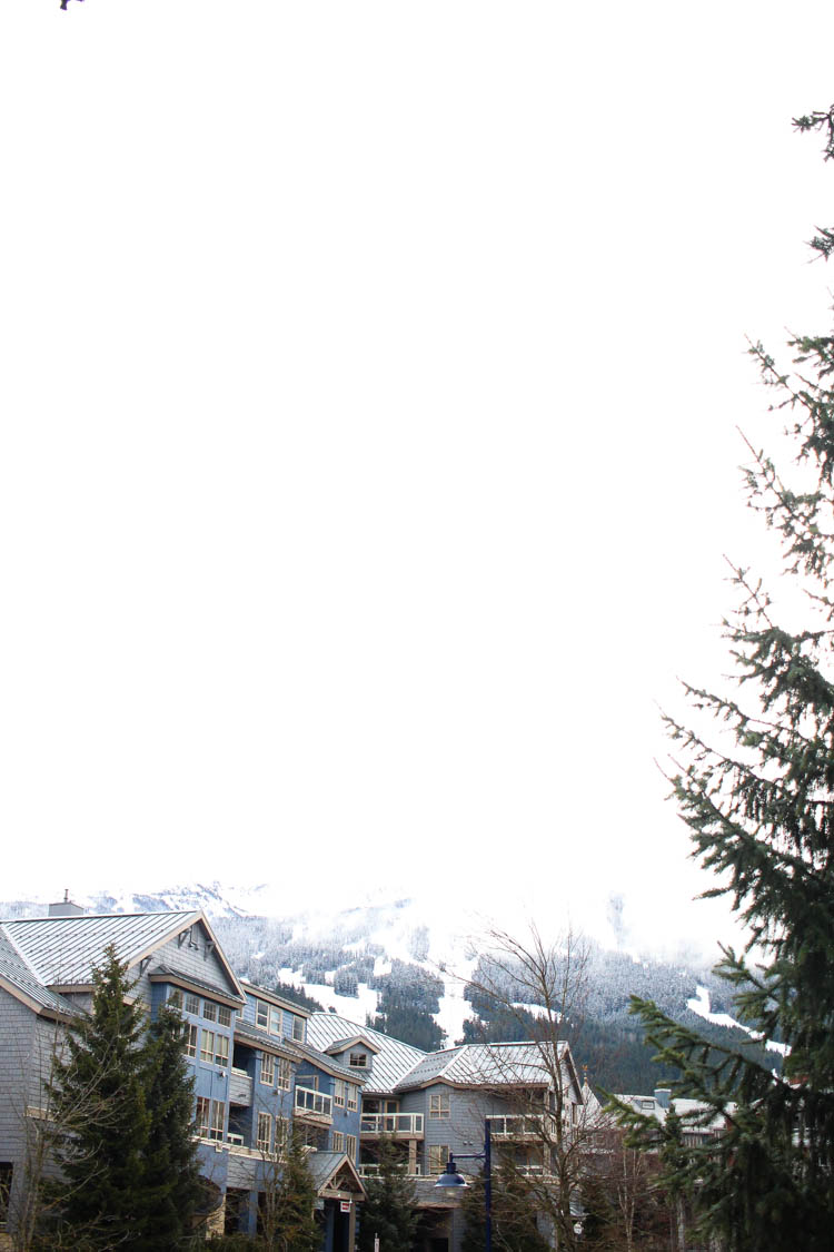 Whistler Village during snow