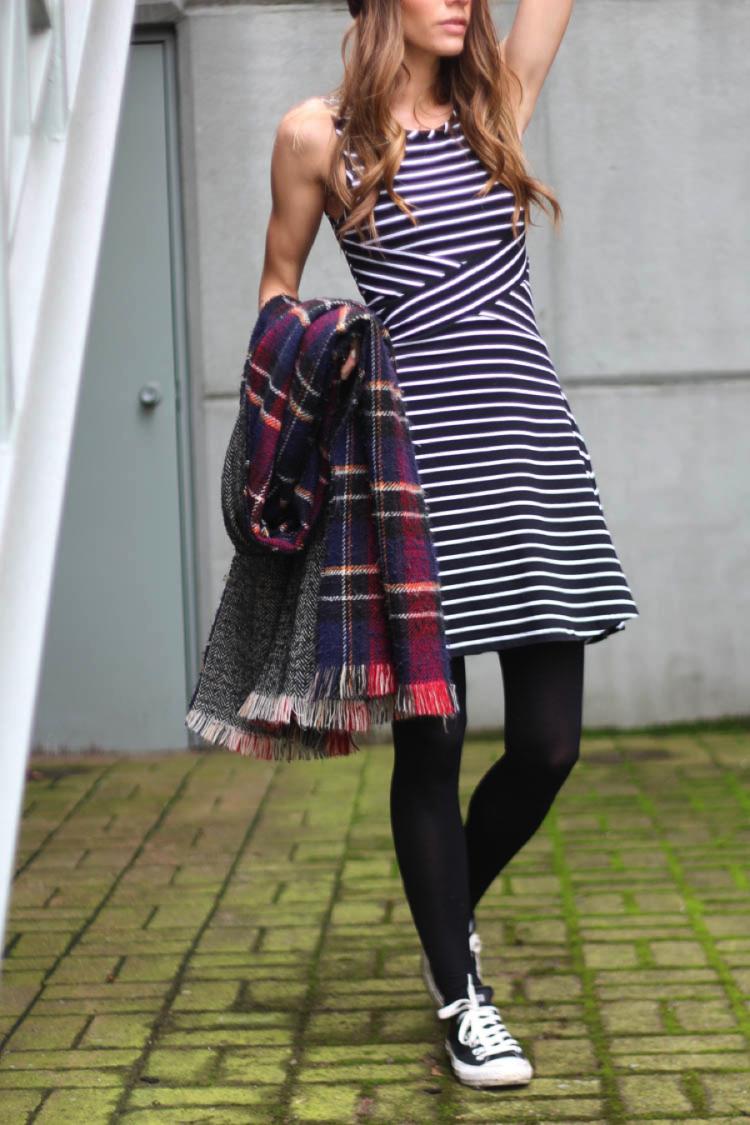 Striped dress from La Maison Simons Vancouver