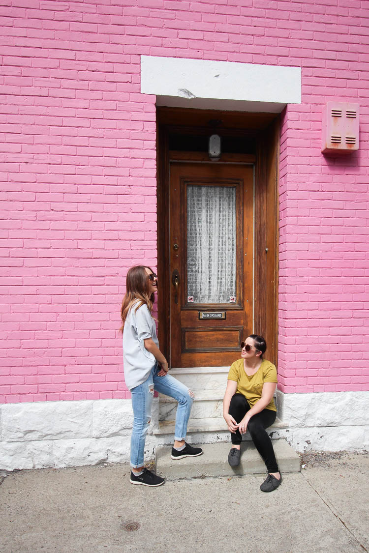 A pink wall in Montreal