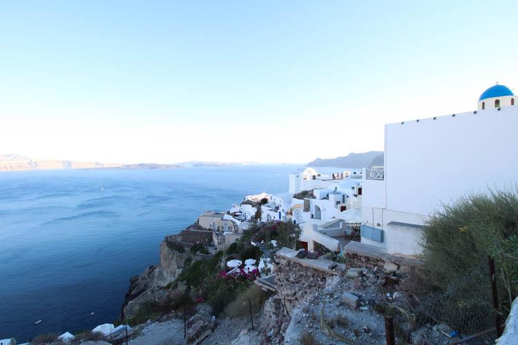 View of Santorini architecture