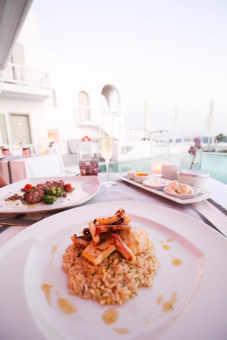 Dinner at Grace Hote, the best food in Mykonos