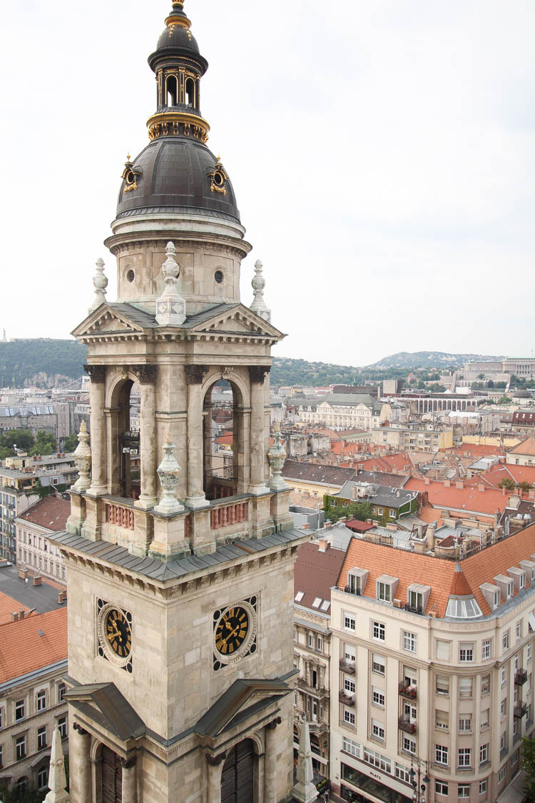 Lookout at St. Stephen's Basilica in Budapest