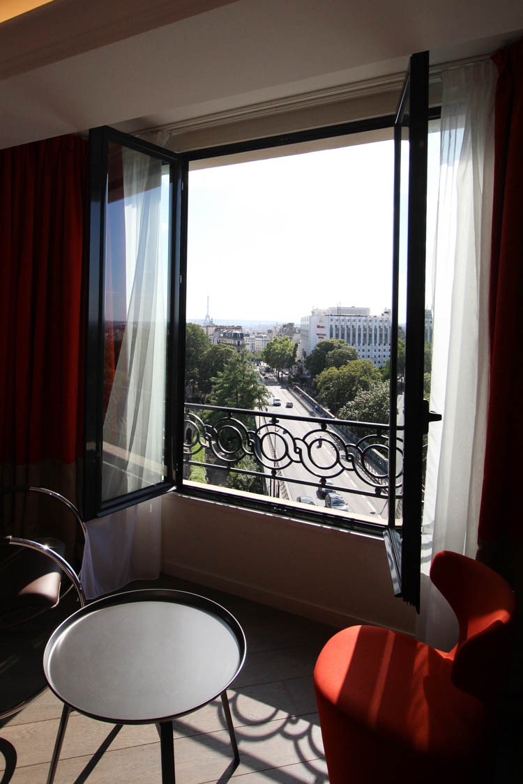 View from our room at the Terrass Hotel Paris