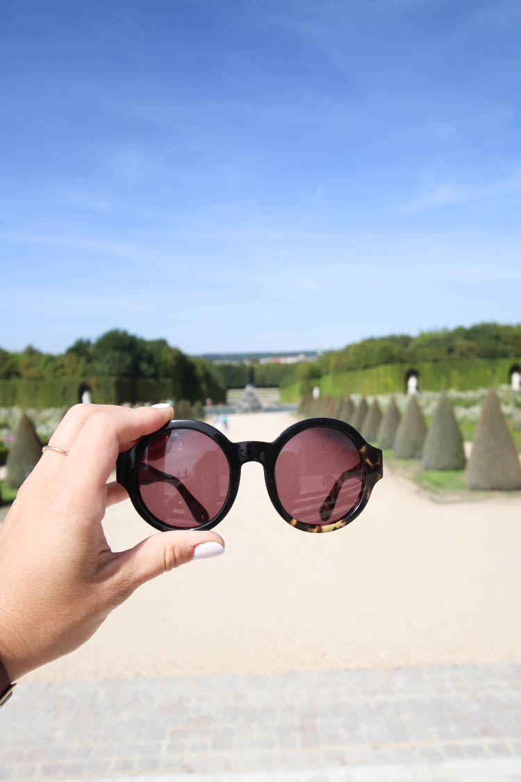 Sunglasses at Versailles Palace